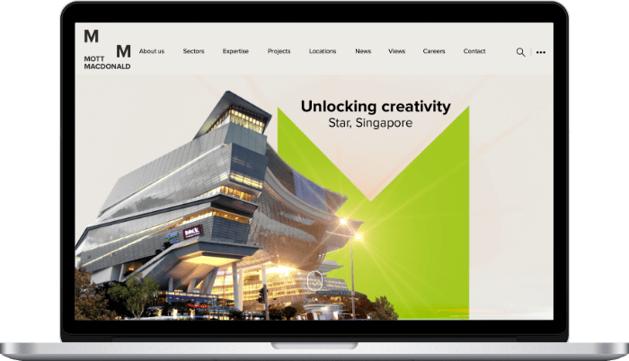 Main Mott Macdonald's website - front end development